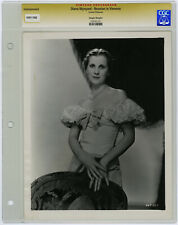 Diana Wynyard Original 1933 CGC Graded Glamour Photograph Reunion in Vienna