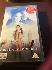 MAID IN MANHATTAN VHS VIDEO PG JENNIFER LOPEZ & RALPH FIENNES