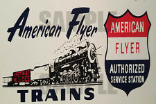AMERICAN FLYER TRAINS SERVICE STATION WEATHERED BUILDING SIGN DECAL 3X2 DD109