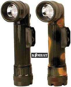 Kombat Military Angle Torch Filters Flashlight British Army Camping Scouts Cadet