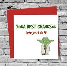 DINOSAURCARDS GREETINGS CARD GRANDSON I LOVE YOU FUNNY HUMOUR YODA BIRTHDAY XMAS