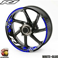 YAMAHA R1 YZF FZR1000 motorcycle wheel decals rim stickers set kit 17 rim vinyl
