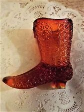 Herman Tappan glass high top shoe diamond block pattern