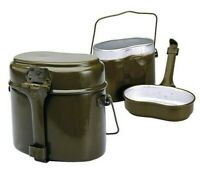 Original Vintage Russian Soviet Army Soldier Mess and Griddle Kit Canteen Pot