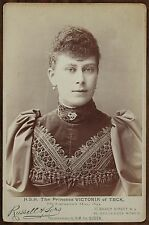 Mary of Teck Queen of the United Kingdom England Photo Cabinet card