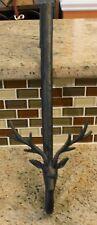 New Pottery Barn LENOX Classic Stag Deer Christmas Wreath Hanger - Black Finish