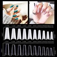500/1000pcs French False Nail Tips Half Nails Art Acrylic Gel DIY Professional