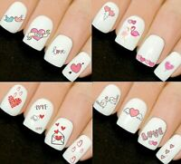 Valentine Heart Nail Nails Art 3D Decal Wraps Stickers Decals Love Hearts