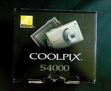 Nikon Coolpix S4000 Digital Camera In Box 12MP 4x Zoom 3