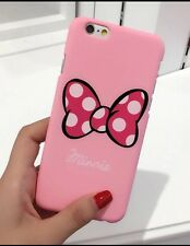 Pink Minnie Mouse Bow  Phone Case/cover For iPhone 7 Or 8. Birthday Xmas