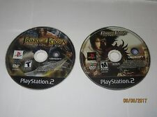 Playstation 2 - Black Label - Lot Of 2 PRINCE OF PERSIA Games - Disc Only