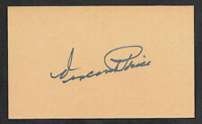 Vincent Price Autograph Reprint On Old 3x5 Card
