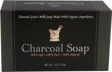 6oz Bamboo Activated Charcoal Bar Soap - Goat Milk - Moisturizing & Detoxifying