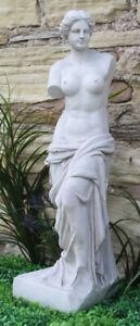 Lady Venus Statue Woman Figure Garden Lawn Sculpture Ornament Stone Effect Decor