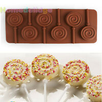 NEW Round Silicone Lollipop Mould Tray Candy Chocolate Lollypop Mold With Sticks