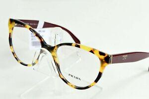 Prada Eyeglasses Havana Brown Tortoise Burgundy VPR01U-7SO1O1 54/17/140