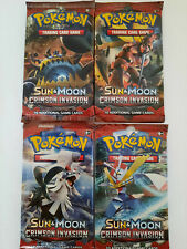 Pokemon TCG Sun and Moon Crimson Invasion booster packs X4 Full Art Set Sealed