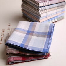 15x Mens HANDKERCHIEFS 100% Cotton Pocket Square Hanky Handkerchief 40x40cm #HJK