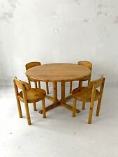 1970 DYRLUND 1 TABLE & 4 CHAISES MODERNISTE BAUHAUS DANSK SCANDINAVE