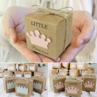 10pcs Natural Kraft Paper Chocolate Candy Gift Boxes Wedding Party Favour Box