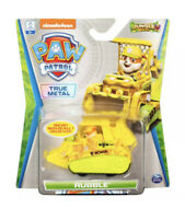 "NEW!  Nickelodeon Paw Patrol ""Rubble"" Jungle Rescue True Metal Bulldozer"