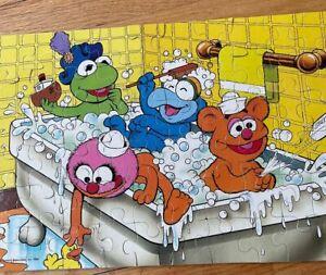 Vintage 1989 Muppet Babies Bath Time - 60 pc. Puzzle Kermit Gonzo Animal Fozzy