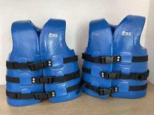2 Rise Aquatics Super Soft USCG Youth Blue Foam Swim Vest Life Jacket 50-90lbs