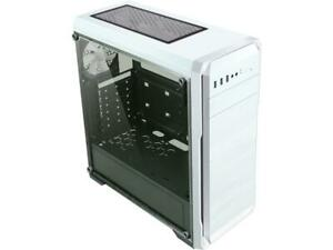 DIYPC DIY-A1-W White Tempered Glass USB 3.0 ATX Mid Tower Computer Case with 1 x
