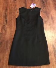 Alfred Sung Black Textured Sleeveless Structured Sheath Dress Size 4/Small