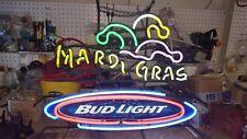 "Bud Light ""Mardi Gras"" Neon Light Sign - 25""x18"" - VERY RARE"