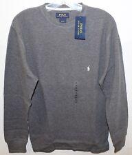 Polo Ralph Lauren Mens Gray Thermal  Loungewear Crewneck Shirt NWT $49 Size S