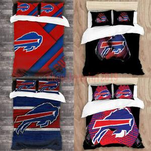 Buffalo Bills 3PCS Bedding Sets Duvet Cover & Pillowcases Comforter Cover Set