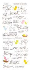 Baby Shower Pregnant Ultrasound Phrase Word Scrapbook Stickers