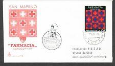 San Marino Fdc Eurocophar 9-19-1975 pharmacy medicine