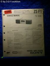 Sony Service Manual ZS F1 Personal Audio System (#1340)