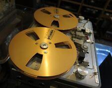"""A pair Reel to Reel Revox Studer empty Tape 1/4""""metal reel nagra"""