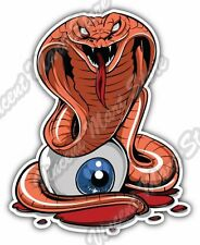 "Red Cobra Snake Venom Eyeball Tattoo Car Bumper Vinyl Sticker Decal 4""X5"""