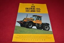 JCB 125 135 155 Fastrac Tractor Dealers Brochure YABE14