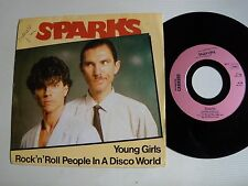 """SPARKS: Young girls / Rock'n'roll people in a disco world 7"""" 45T UNDERDOG 49.705"""