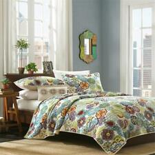 Retro Soft Quilt Set Purple Blue Aqua Teal Green King Queen Full & Twin Szs