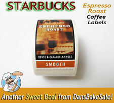 Starbucks Coffee Espresso Roast Labels Stickers Roll Hard to Find Collectible