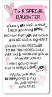 Special Daughter Inspired Words Magnetic Bookmark Sentimental Gift Range