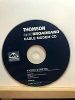 Used ~ Thomson Digital Broadband Cable Modem CD Computer Software CD-ROM 2003