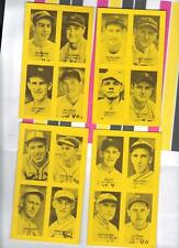 22 1977 Jim Rowe  Exhibit Cards Lou Gehrig, Joe DiMaggio, Babe Ruth,Ted Williams