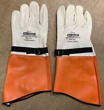 """Salisbury 16"""" Leather Cowhide 9-9.5 High Voltage Lineman Safety Gloves Ilp-7C"""