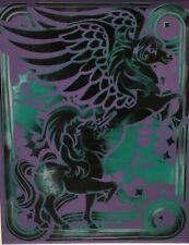 "DOUG Z: SPRAYPAINT SURREALIZM ""Pegasus ""Winged Horse Purple/ Black Custom Framed"