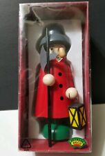 "Vintage Wooden Soldier Guard Figure 8"" Christmas Heitmann Deco Germany Colorful"