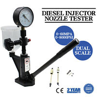 Diesel Injector Injection Nozzle Tester Testing 0-600 Bar & 0-8000 PSI Gauge