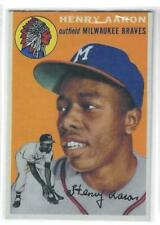 HANK AARON 1954 TOPPS REPRINT!!  THIS IS A BEAUTY!!  NMT-MT  BRAVES LEGEND