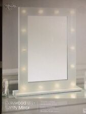 White 14 LED light up Vanity MIRROR bedroom bathroom dressing Table 50x40 metal